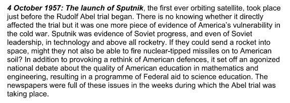 Cold War timeline/Bridge Of Spies