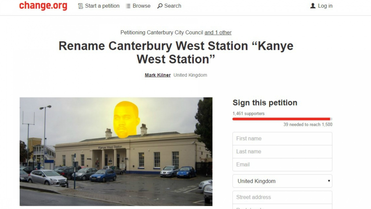 Kanye West petition