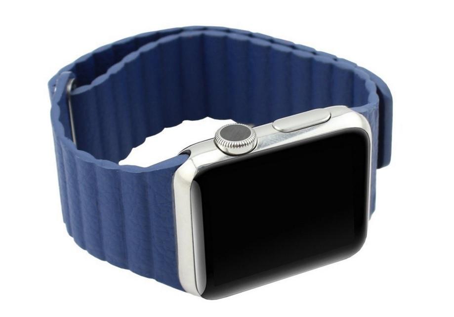 Apple Watch Leather Loop strap blue