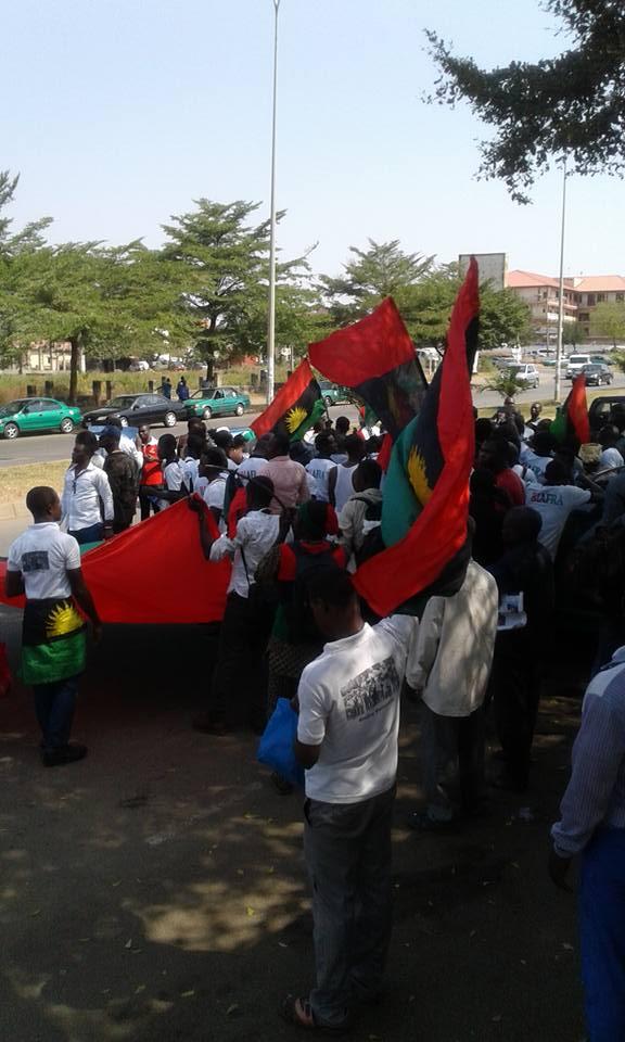 Biafra protesters in Abuja