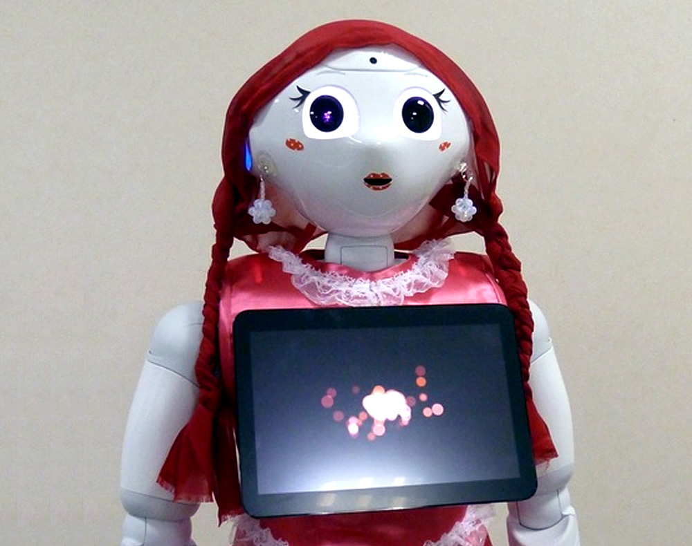 Pepper personal robot companion dressed up