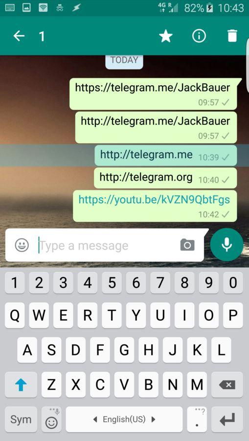 WhatsApp blocking Telegram