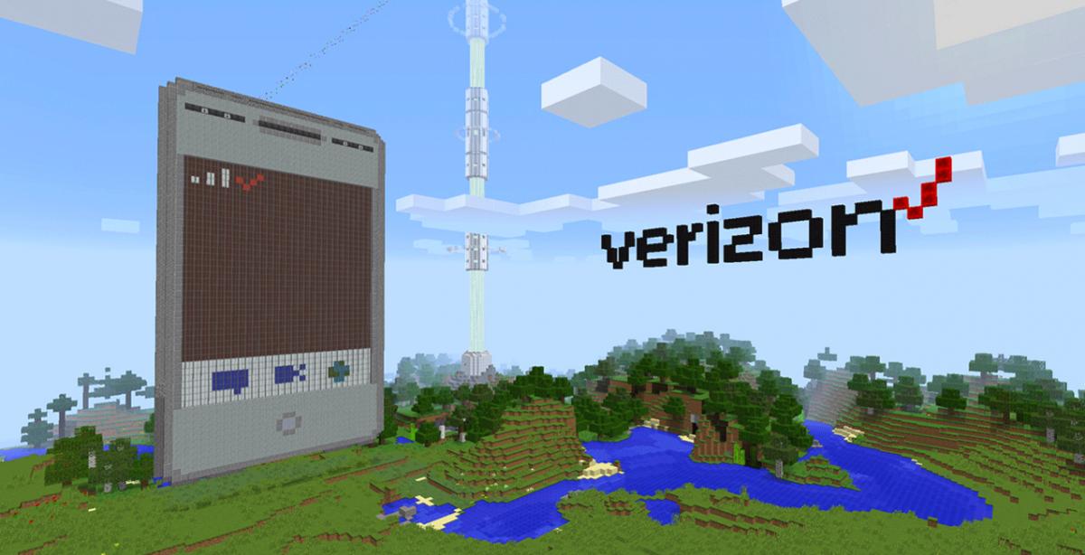 Minecraft phone Verizon boxels