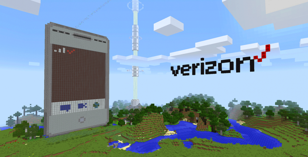 Minecraft phone Verizon boxels
