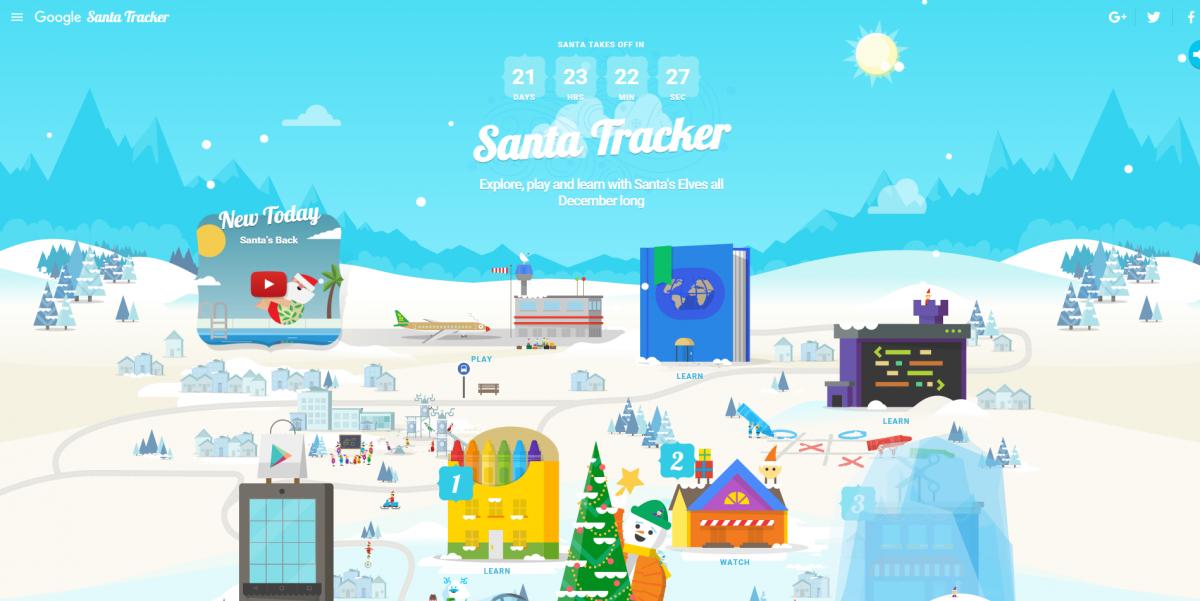 Google Christmas Santa Tracker