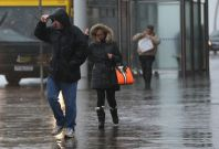 Wet and windy weather
