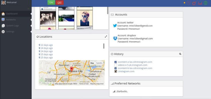 The InterApp dashboard