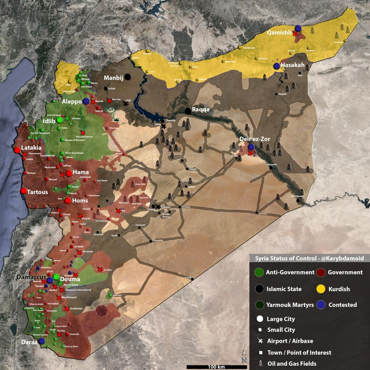 Syria oil wells