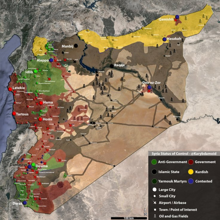 Syria oil wells