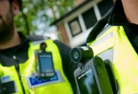 West Midlands Police wearing body cameras