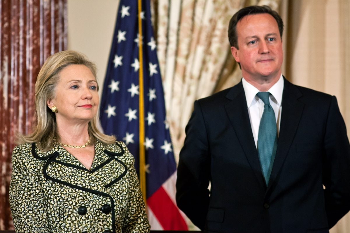 Hillary Clinton and David Cameron