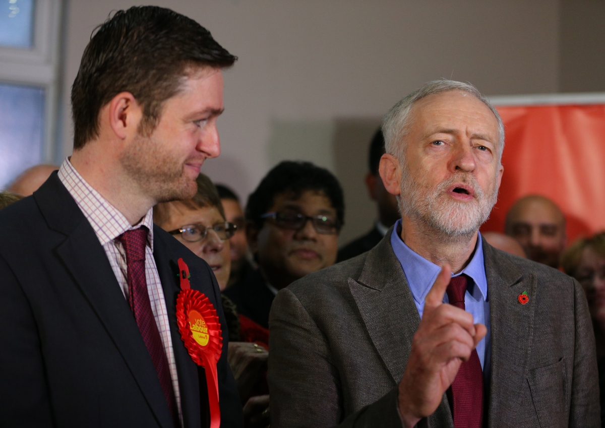 Jeremy Corbyn and Jim McMahon