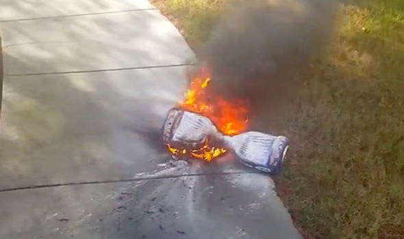 Hoverboard explosion