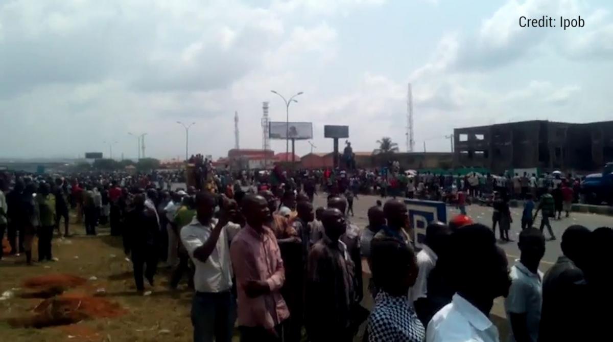 Nine 'killed' in pro-Biafra protest in Onitsha