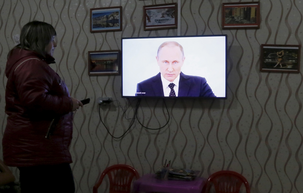 Watching Putin's speech