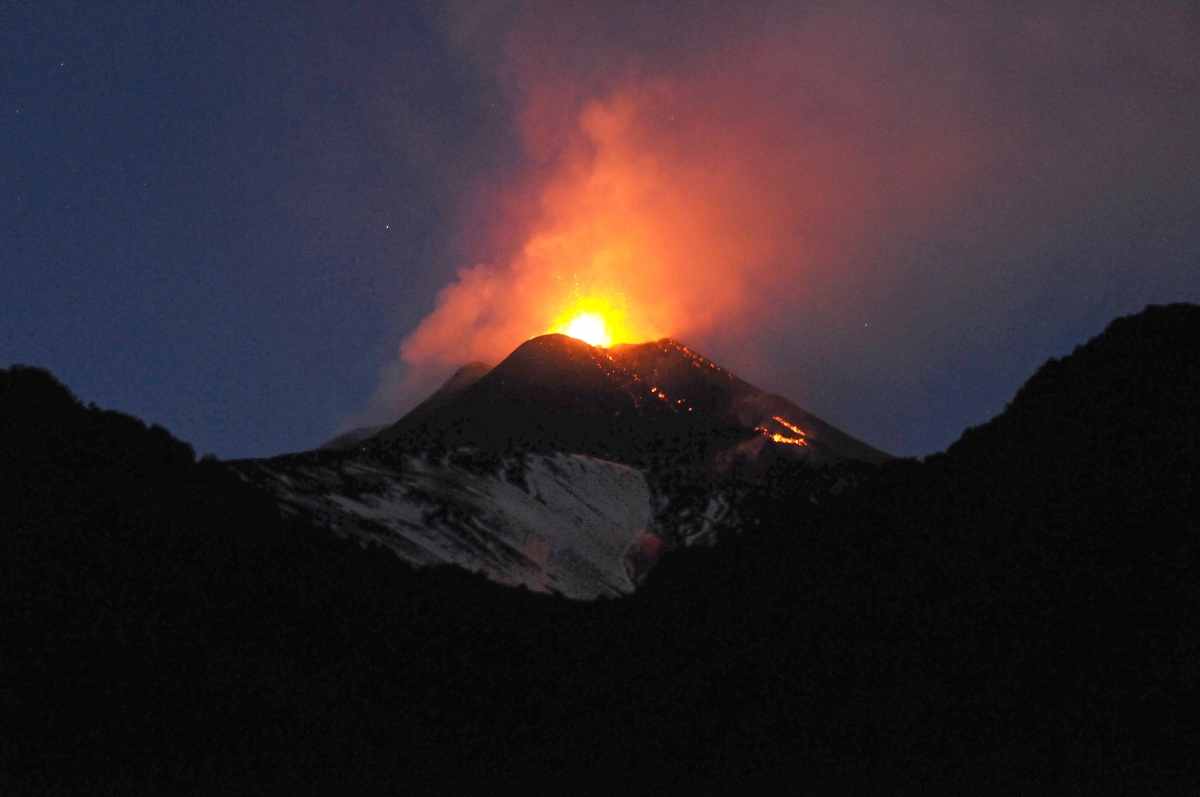 mount edna Europe's most active volcano, mount etna, is sliding towards the sea scientists have established that the whole structure on the italian island of sicily is edging in the direction of the mediterranean at a rate of 14mm per year the uk-led team says the situation will need careful monitoring.