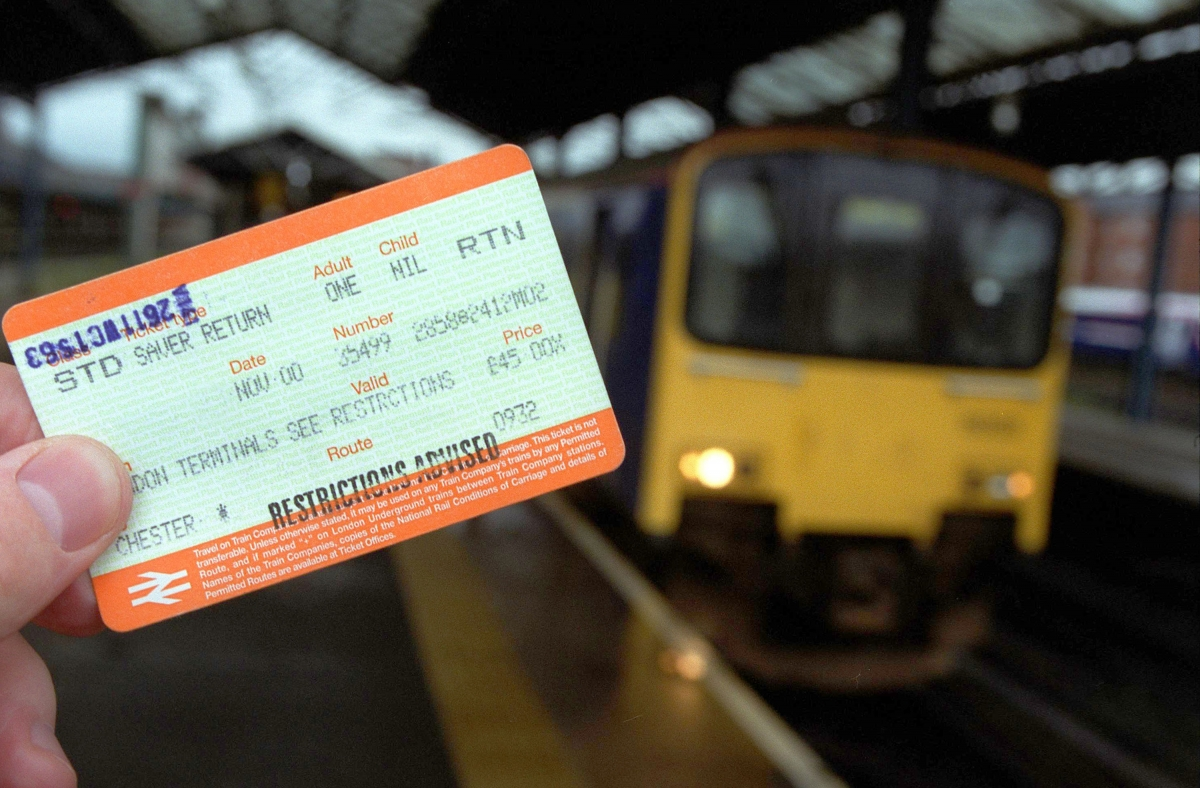 Fake discount train ticket