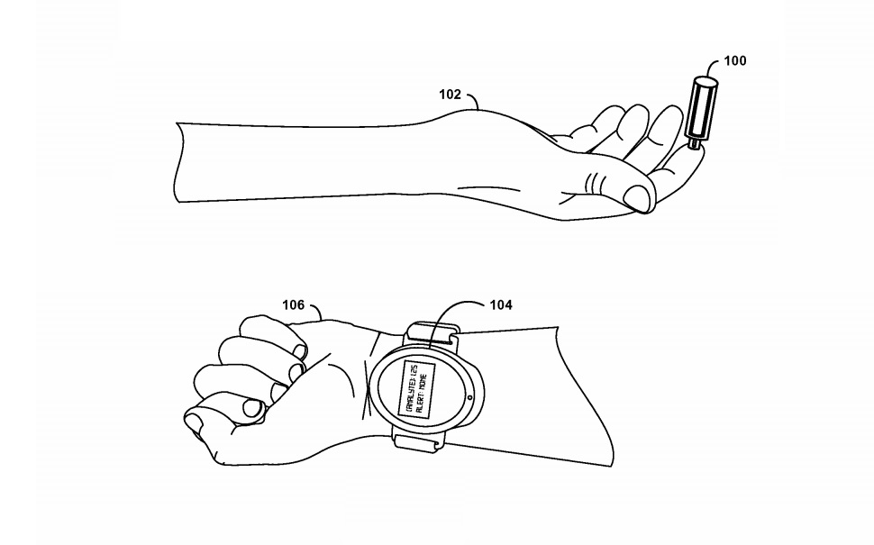 google patent smartwatch blood wearable