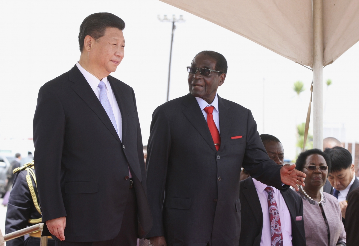 China's Xi ties with Zimbabwe's Mugabe