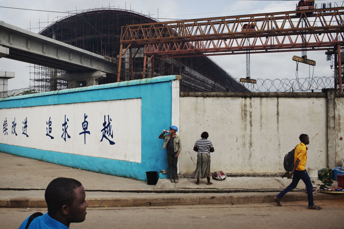 Chinese construction site in Nigeria