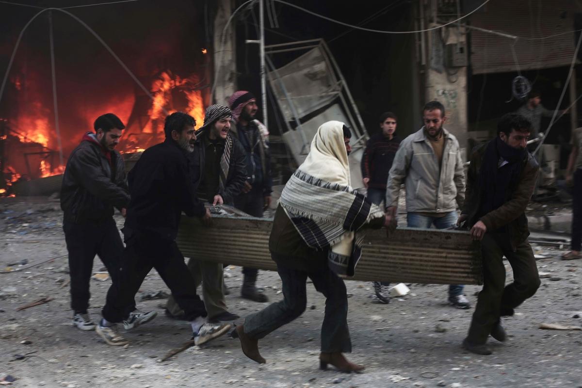 Assad bombardment