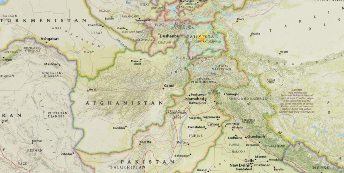 Tajikistan earthquake