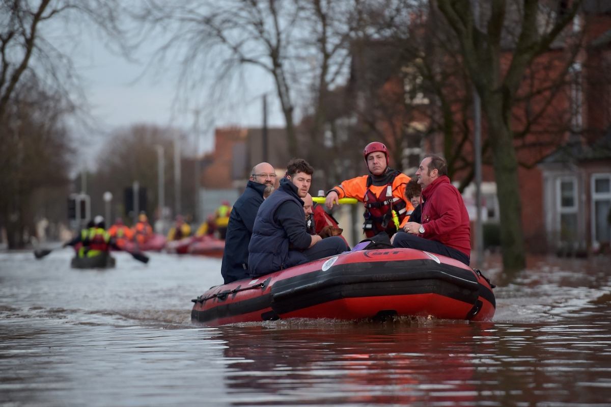 Residents are saved from Storm Desmond