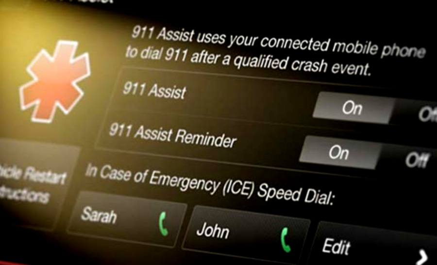 Ford 911 Assist smart car technology