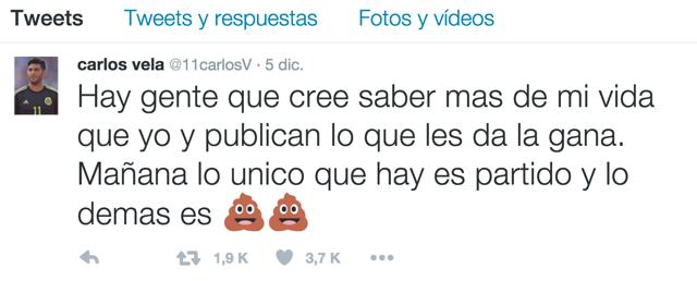 Carlos Vela Twitter