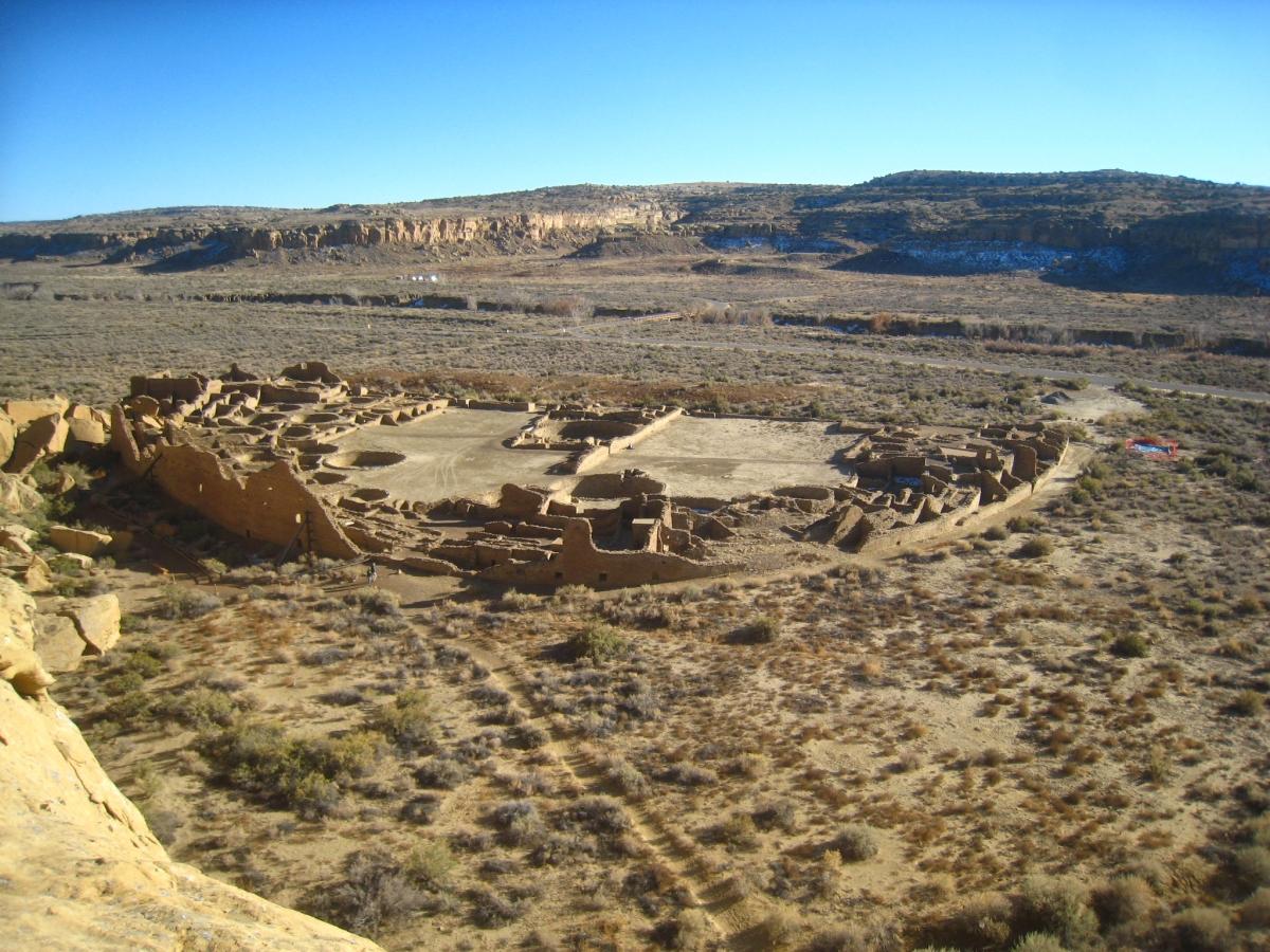 Pueblo Bonito in Chaco Canyon