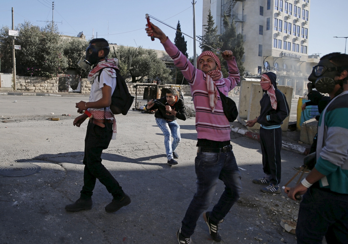 Israel-Palestinian clashes in the West Bank city of Bethlehem