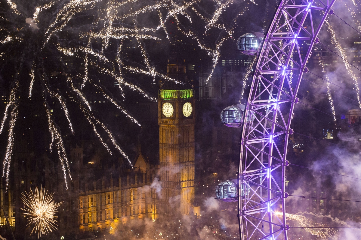 New Year's Eve fireworks London