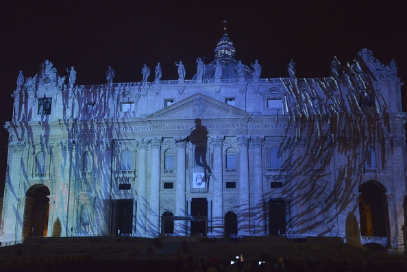 Jubilee of Mercy light show