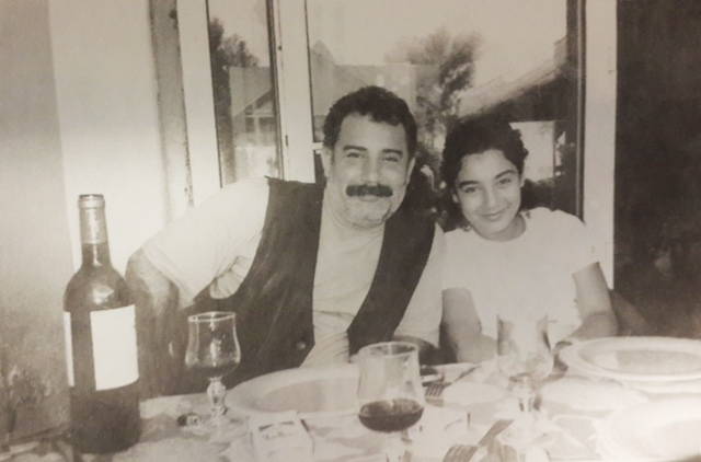 Melis Kaya with her father Ahmet. Credit- Melis Kaya