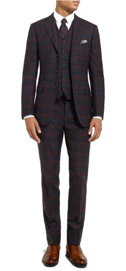 Eddie redmayne tartan suit