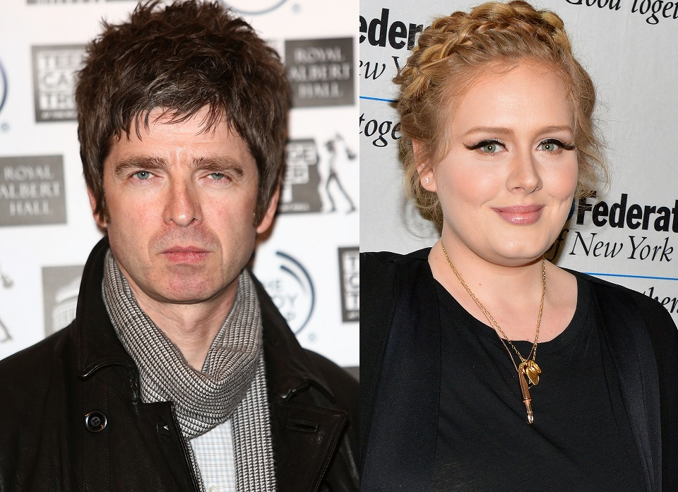 Noel Gallagher and Adele