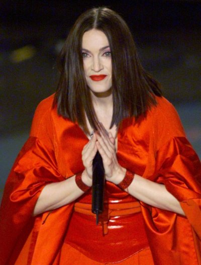 Madonna performs her song quotNothing Really Mattersquot during the 41st Grammy Awards February 24, 1999. Madonnas album quotRay of Hopequot won for Best Pop Album.