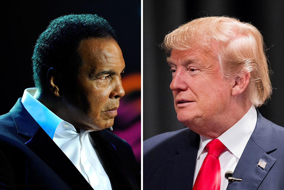 Muhammad Ali and Donald Trump