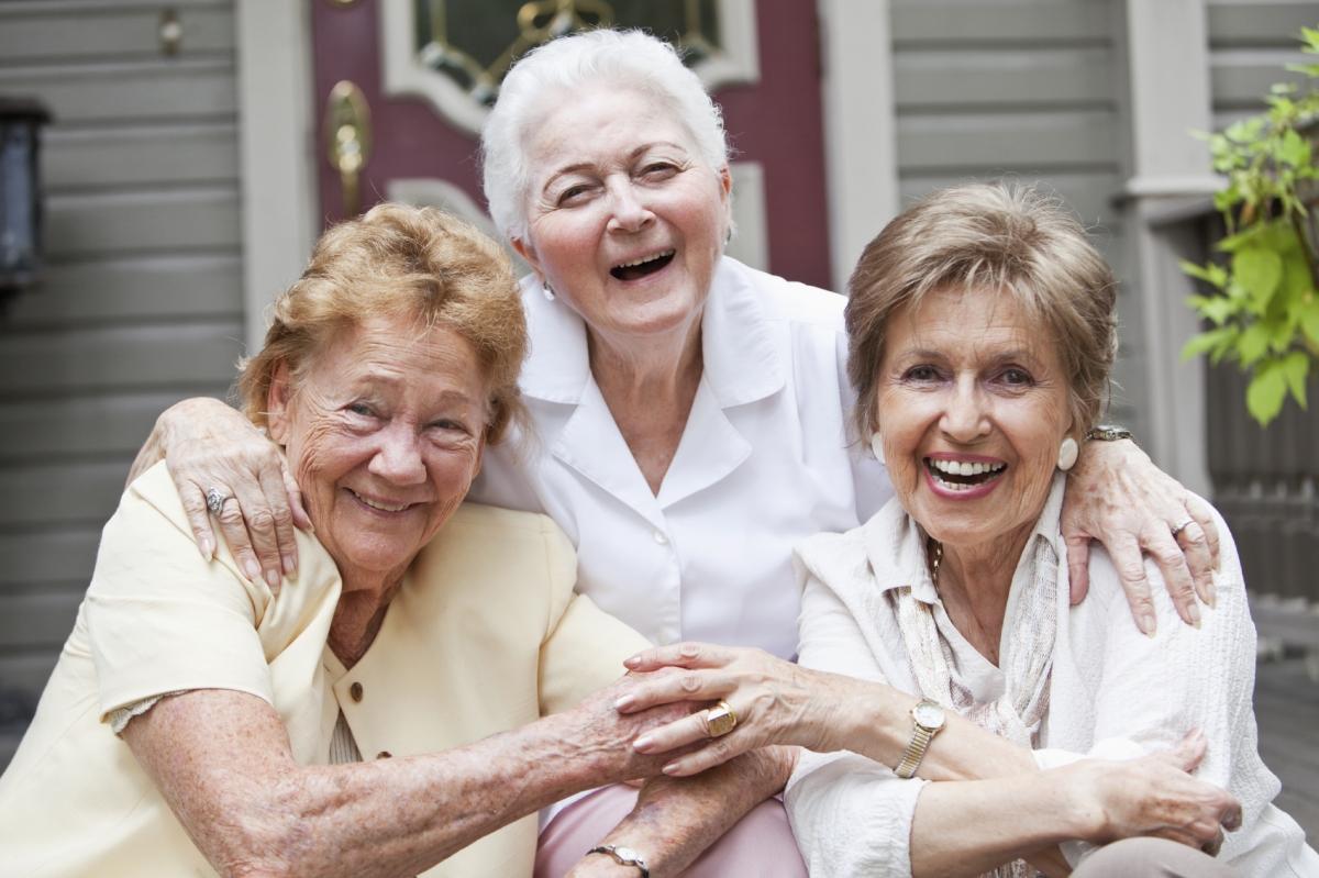 old women happy