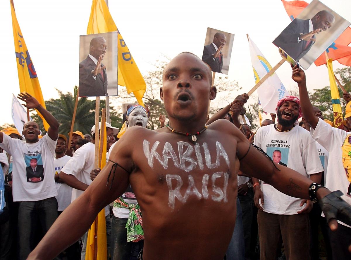 Supporters of DRC President Joseph Kabila