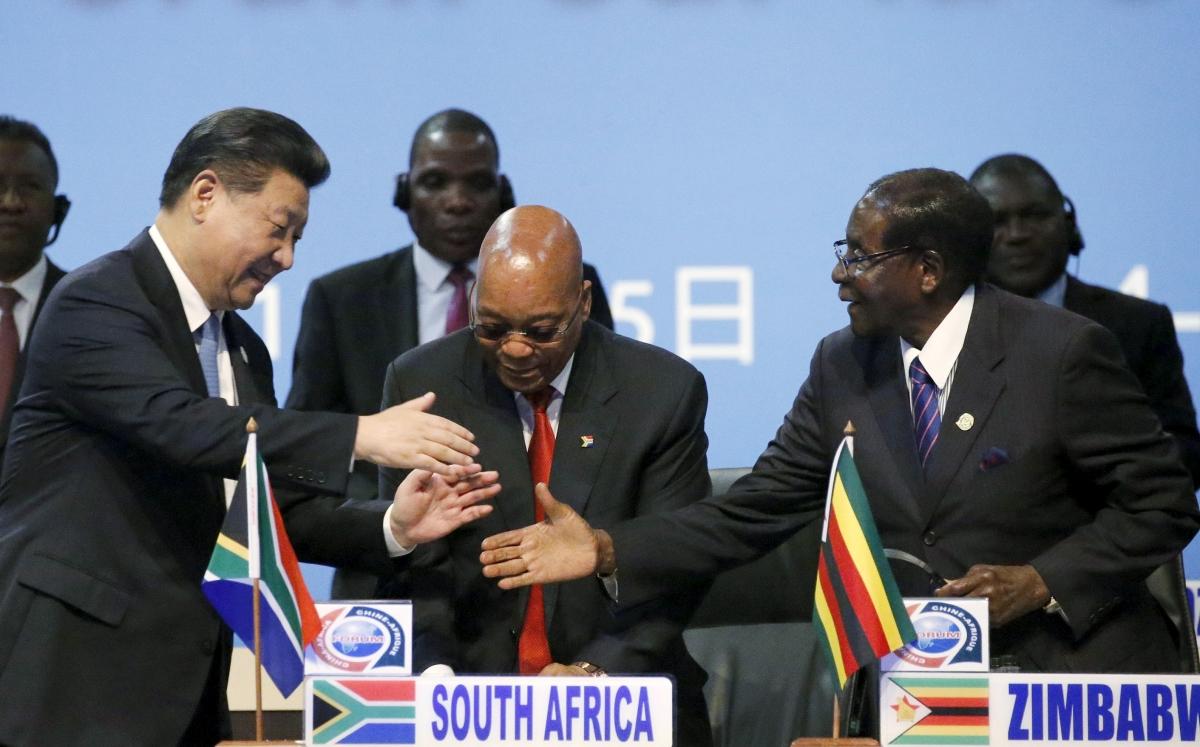 Xi Jinping Jacob Zuma Robert Mugabe