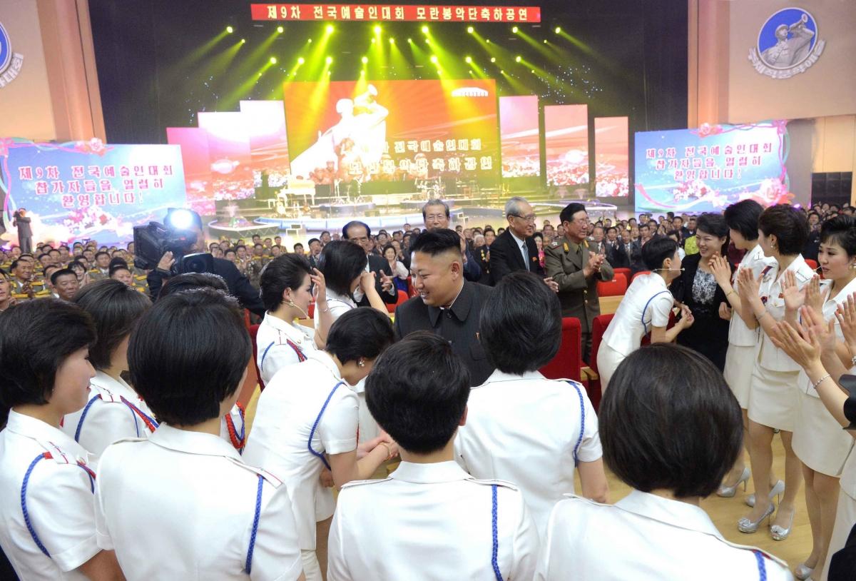 Kim Jong Un and the Moranbong Band