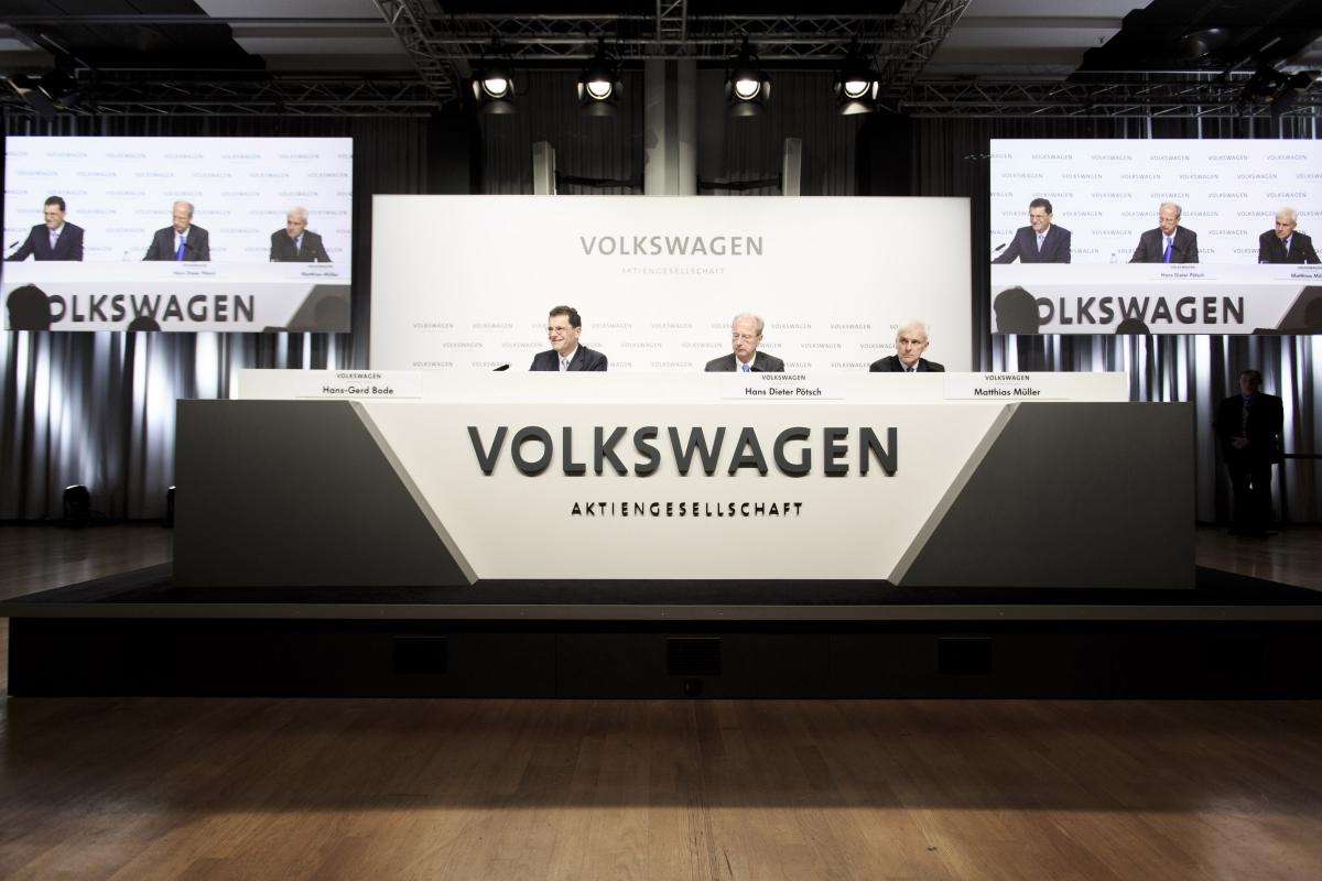 Volkswagen press conference