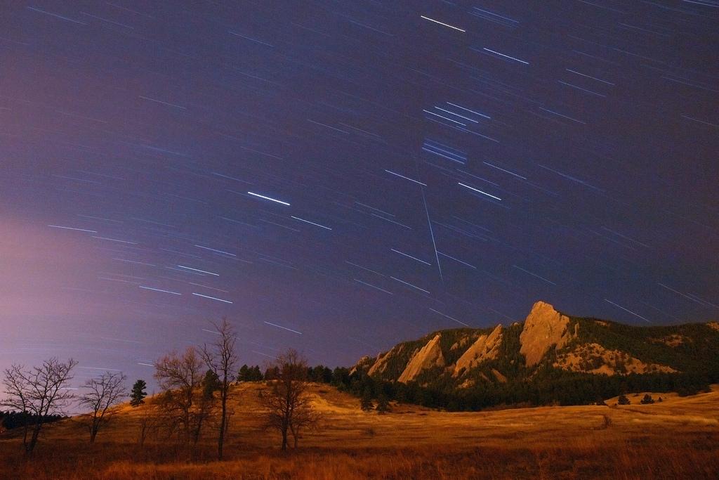 Geminids over Colorado