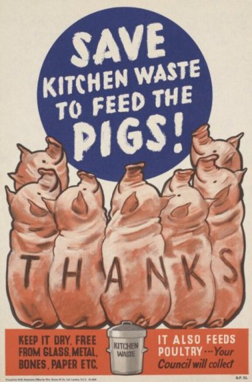 Poster promoting pigswill