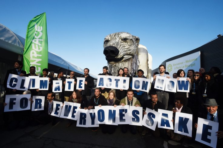 COP21 Greenpeace protesters