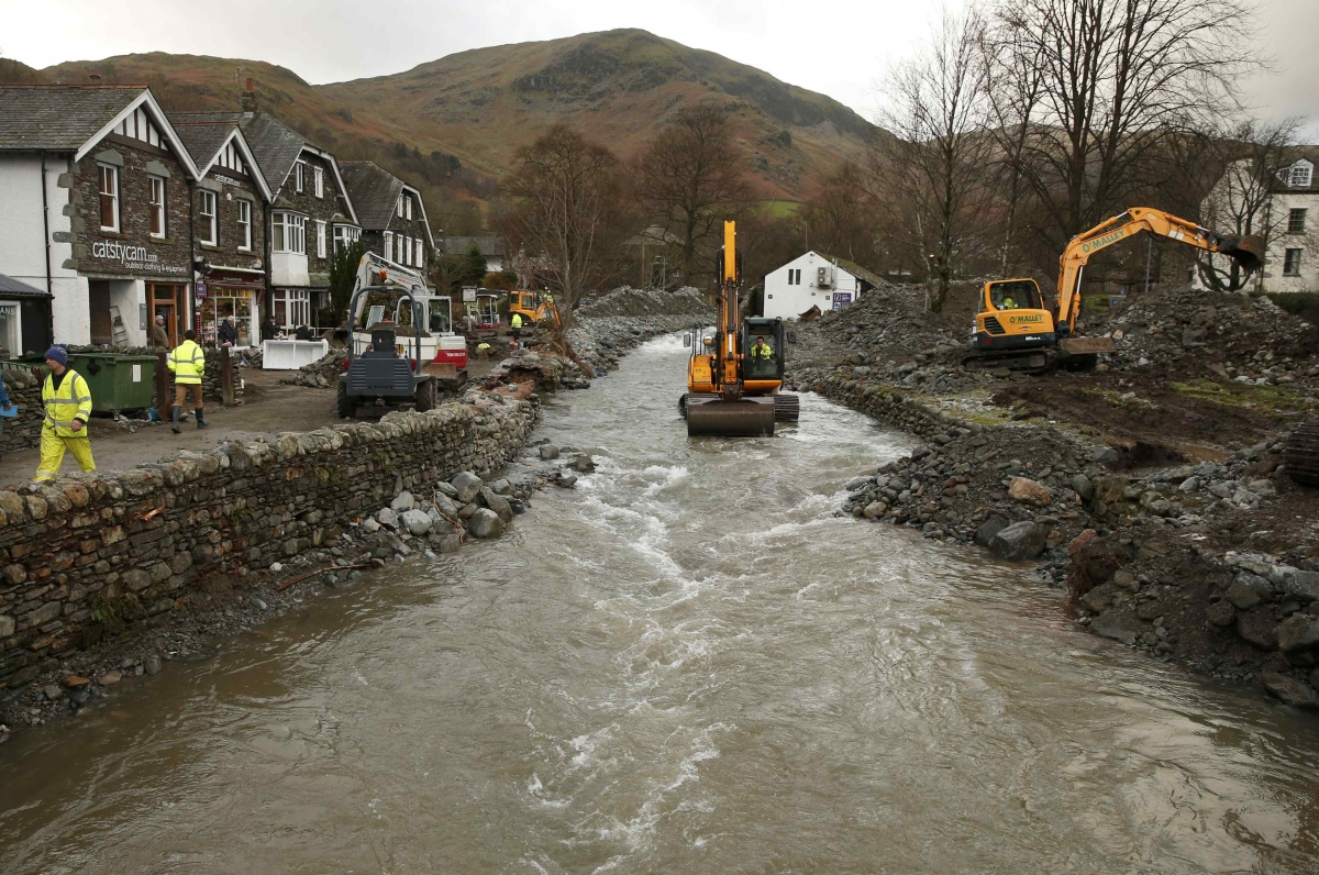 Storm Desmond hits Glenridding