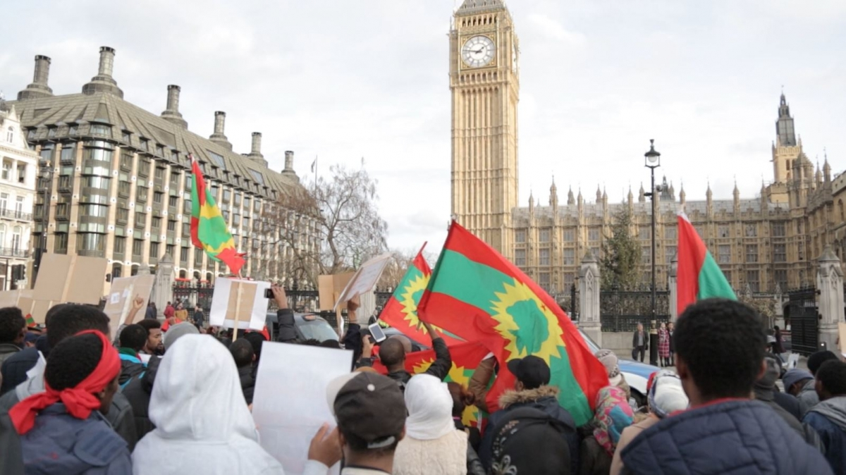 Oromo community protest in London