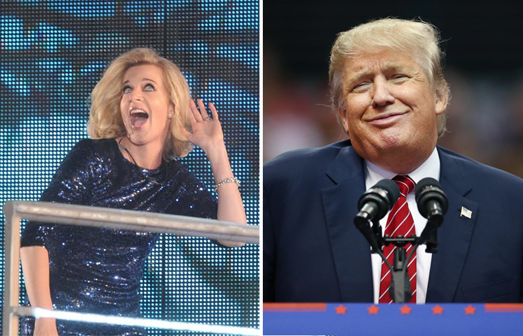 Katie Hopkins and Donald Trump