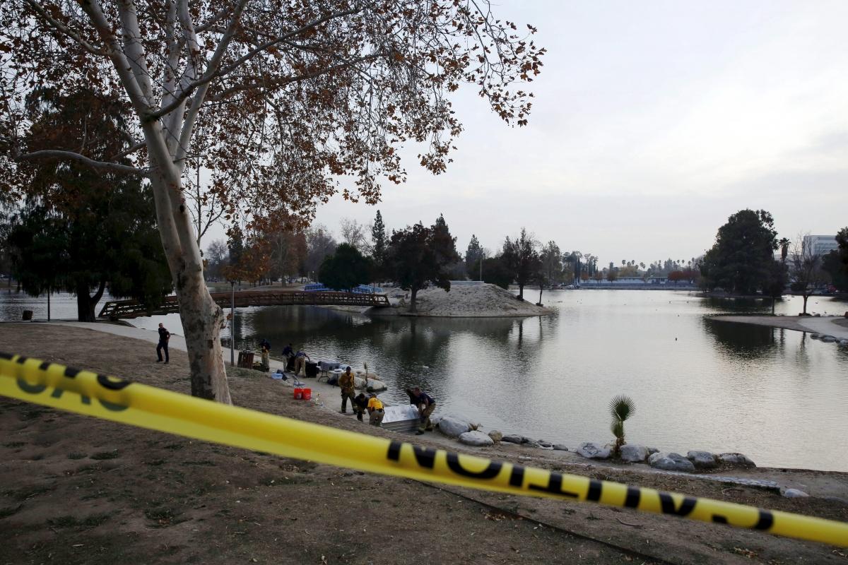 Seccombe Lake Park  San Bernardino shooting